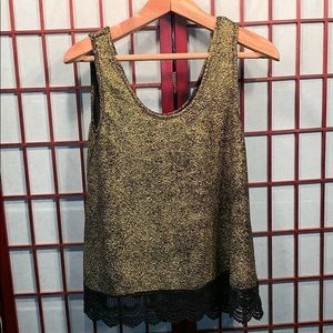 Black and gold Charming Charlie top